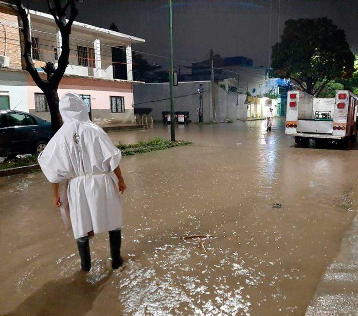 Saldo blanco por lluvias en la capital chiapaneca